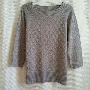 Sag Harbor Silver Metallic sweater
